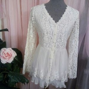 New Beautiful Ruffles and Lace Top